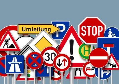 Halteverbotszonen, Verkehrsschilder mieten Mainz, Wiesbaden, Frankfurt